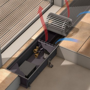 Katherm QK - podno kanalno grijanje sa energetski učinkovitom EC ventilatorskom tehnologijom
