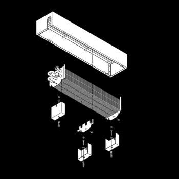 Powerkon +F - sadržaj isporuke: obloženi konvektor sa nosačem za gotovi pod