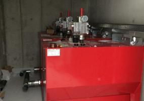 Maschinenraum des hydraulischen Lastenaufzüges  - Sindelfingen 1