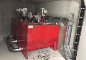 Maschinenraum des hydraulischen Lastenaufzüges  - Sindelfingen 2