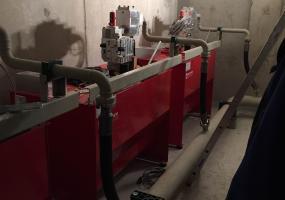 Maschinenraum des hydraulischen Lastenaufzüges  - Sindelfingen 5