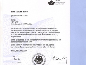 BGM certifikat, Davorin Bauer