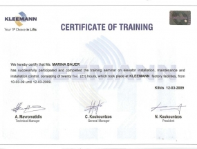 Kleemann certifikat, Marina Bauer